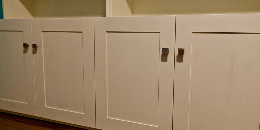 White Doors with decorative pulls -click on image for full picture